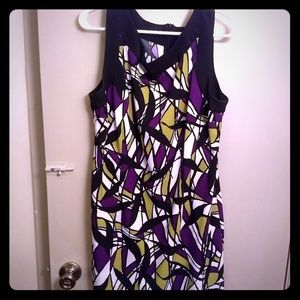 Dresses & Skirts - White, Black, Purple and Green dress